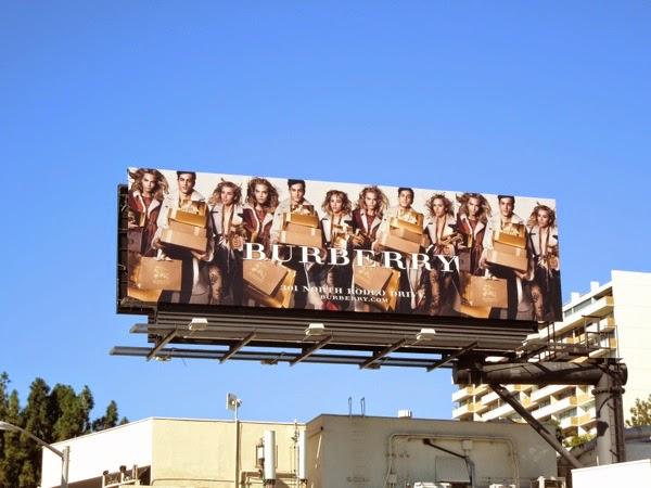 Burberry Holidays 2014 billboard