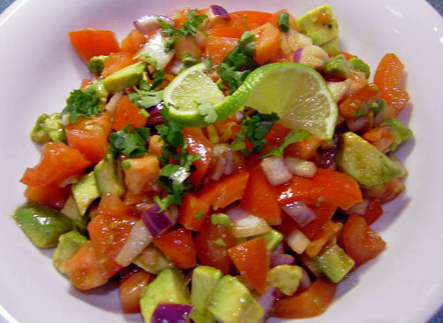 ... Loss Diet Recipes: Tomato and Avocado Salad recipe – 125 calories