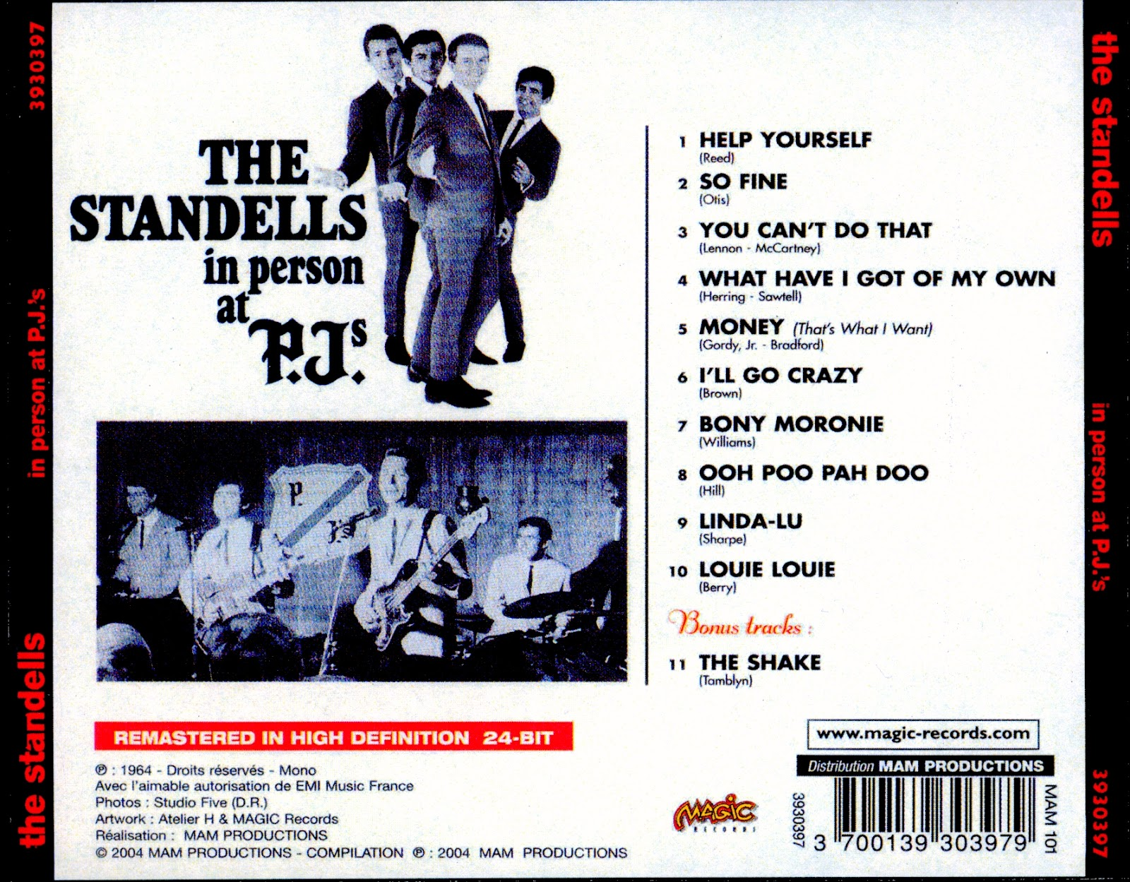 Standells In Person At PJs