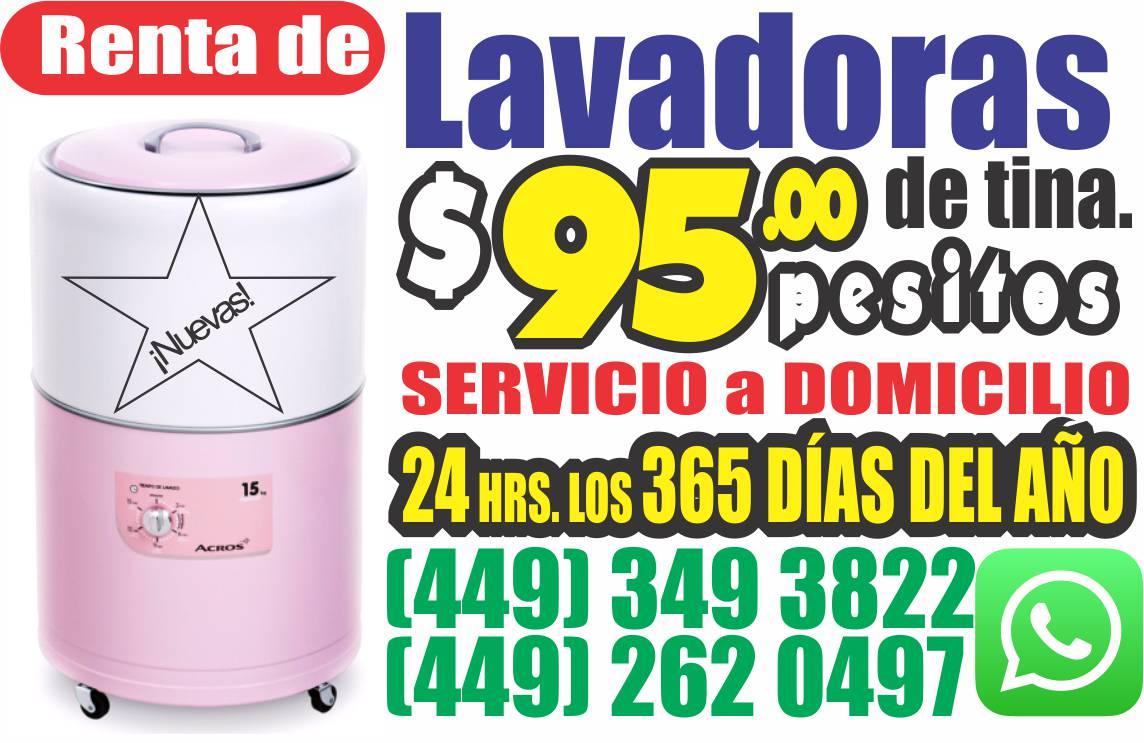 Renta de Lavadoras