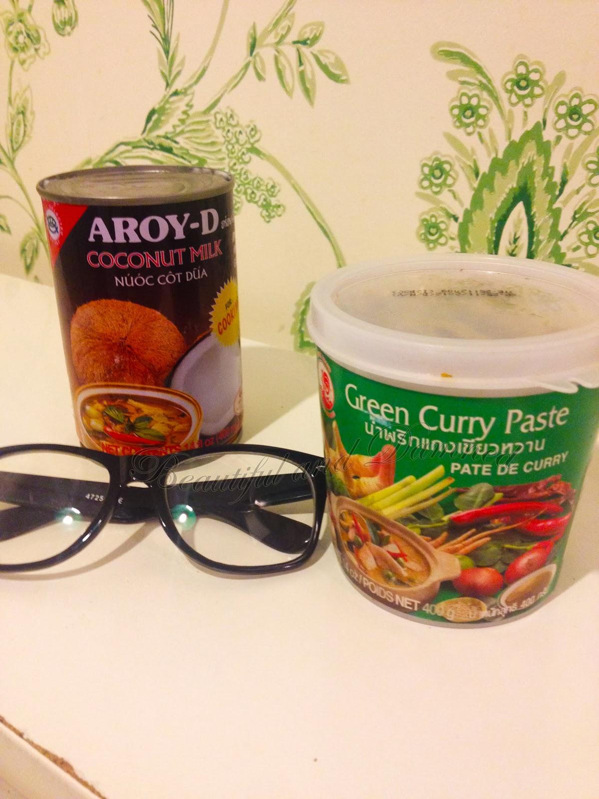 Ingredientes de Green Thai Curry de pollo