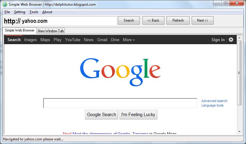 Contoh Penggunaan TWebBrowser Delphi