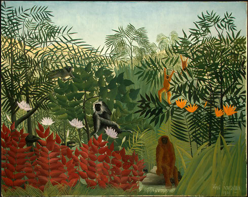 Tropical Forest with Monkeys by Henri Rousseau 1910