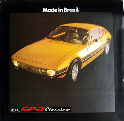 Capa do prospecto de vendas do Volkswagen SP2 em 1974