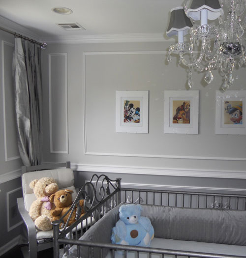French Modern Baby Room