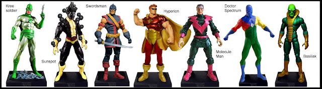 <b>Wave 5</b>: Kree Soldier, Sunspot, Swordsman, Hyperion, Molecule Man, Doctor Spectrum & Basilisk