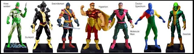 <b>Wave 5</b>: Kree Soldier, Sunspot, Swordsman, Hyperion, Molecule Man, Doctor Spectrum & Basilisk
