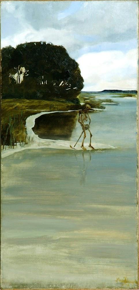 Der pinkelden Tod / Death Peeing - by Max Klinger