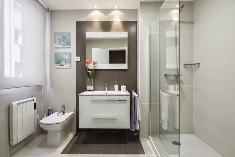 Modern Bathroom Design Ideas Modern Bathroom With White And Gray Tiles