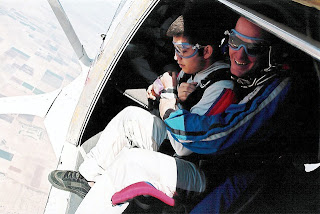 skydiving, scared