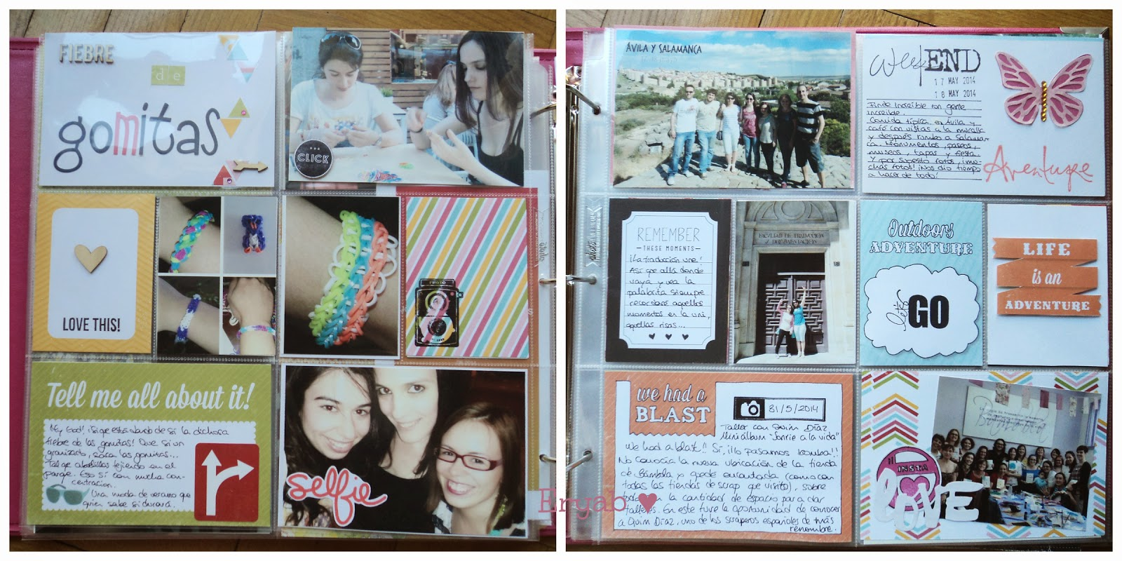 páginas project life mayo