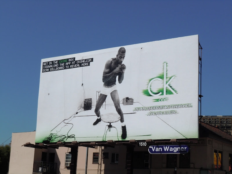 Rob Evans CK One Box billboard