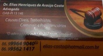Advogado, Dr. Elias Henriques