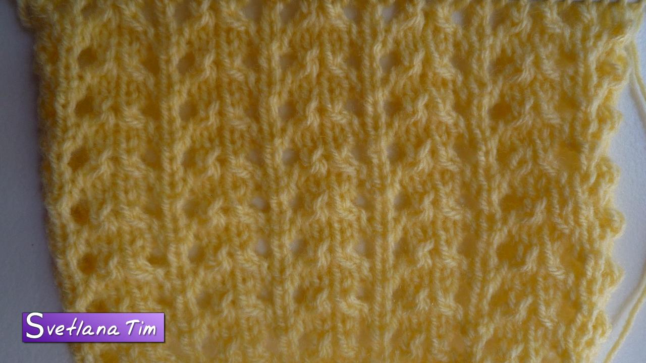 Узор косы в вязании спицами