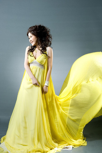 Light Yellow Wedding Dress