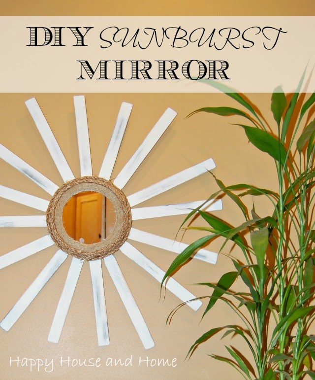 sunburst mirror, DIY sunburst mirror, make a sunburst mirror, dollar store crafts,
