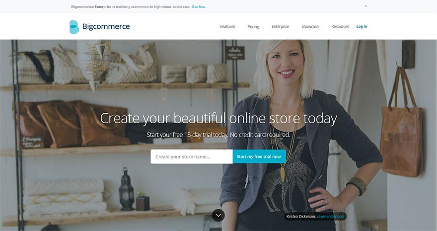 BigCommerce online shop builder
