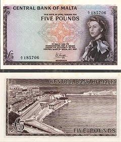 Maltese QEII £5 Note