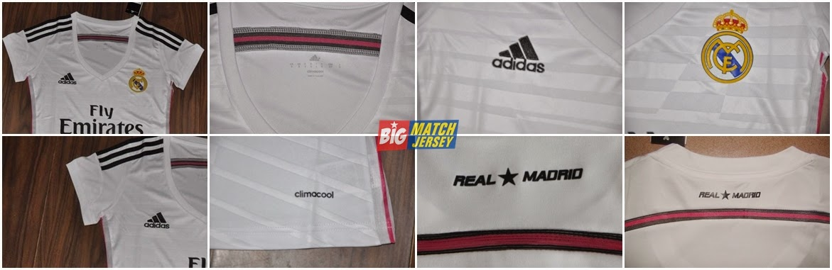 Detail Jersey Couple Real Madrid Home (Whith) 2014-2015