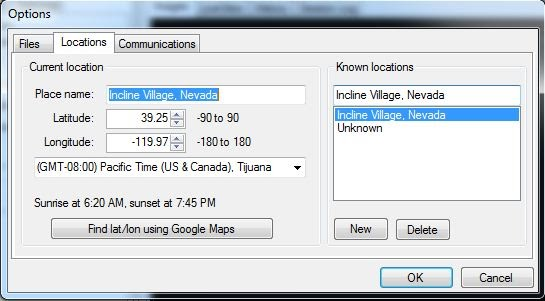 Granite Bay : How GBTimelapse 3.1 uses your GPS coordinates ... on