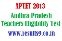 APTET 2013 September Notification