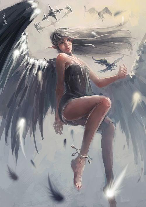 Wang Ling wlop deviantart ilustrações fantasia mulheres sensuais pintura digital