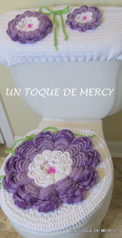 Set De Baño Tejido A Mano:Juegos De Bano En Crochet