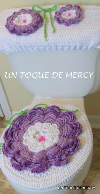 Set De Baño Tejido Al Crochet:UN TOQUE DE MERCY: SET PARA BANO DE CROCHET
