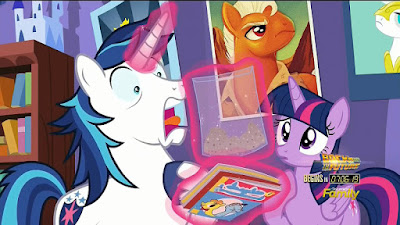 Shining Armor sees his destroyed comic