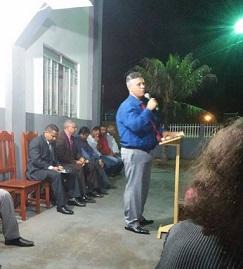 Ceifeiros no culto a noite na igreja Capão Verde-MT 19 e 20.03.2016
