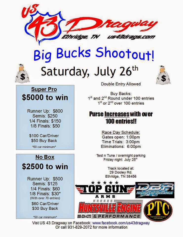 Big Bucks Shootout at U.S. 43 Dragway