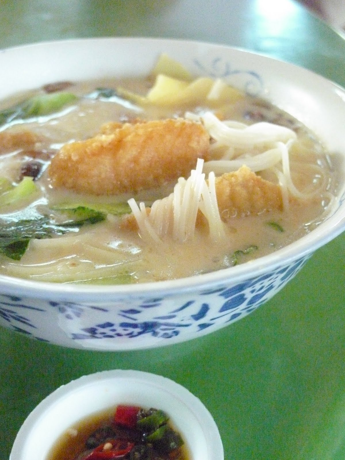 The hungry cow fried fish milky soup comfort for Fish soup near me