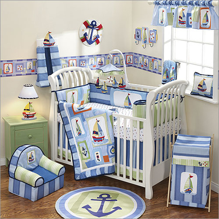 home basement design ideas: Baby Room Theme – All Blue Sea