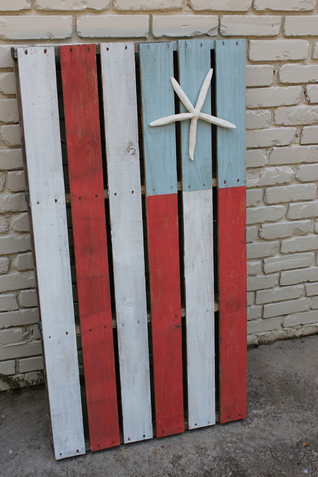 Pinterest Challenge Nautical American Flag Pallet Art