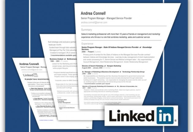 resume exles is linkedin resume passing up the
