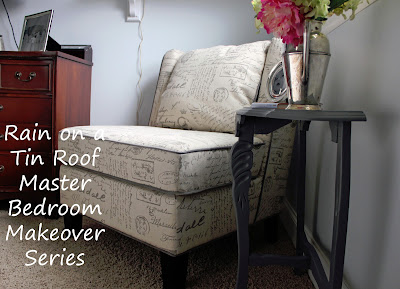 Master Bedroom Makeover Series: Reading Nook {rainonatinroof.com} #bedroom #makeover #nook #reading