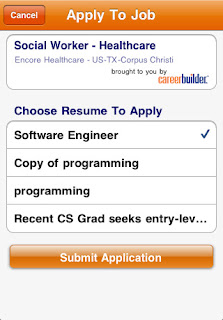 careerbuilder.com iPhone App