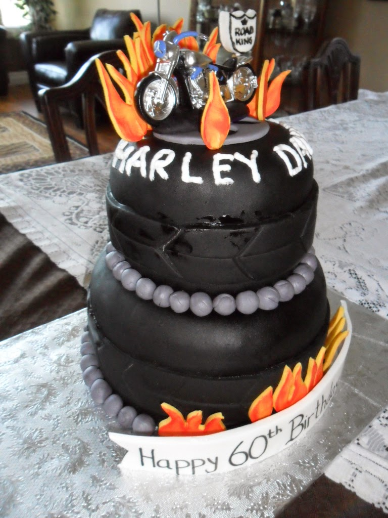 Larry The Cake Guy Harley Davidson Birthday Cake