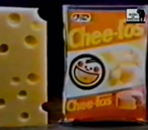 Propaganda do salgadinho Cheetos da Elma Chips apresentado nos anos 80.