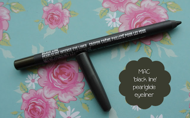mac pearlglide eye liner black line