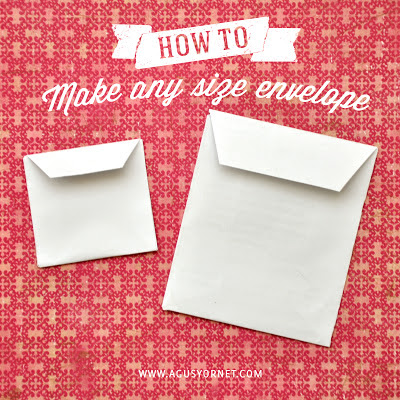 How To Make Any Size Envelope Open Side Style Agus
