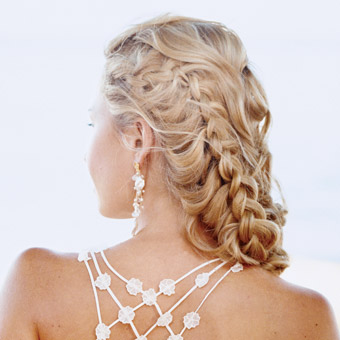Half Up Half Down Prom Hairstyles for Medium Hair
