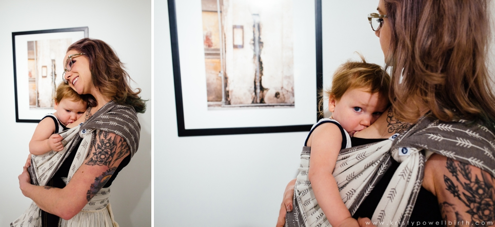 New Jersey babywearing photographer