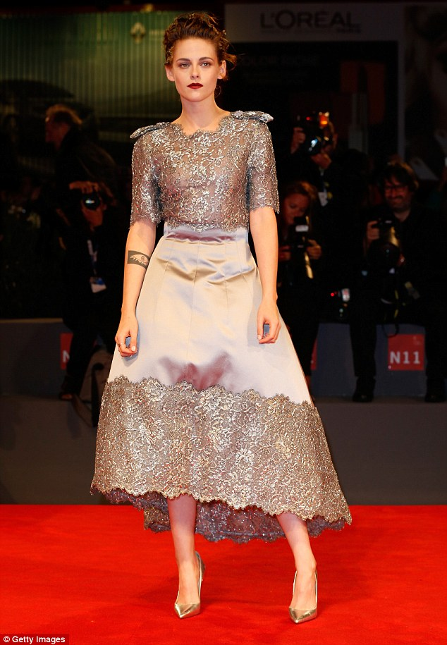 Kristen Stewart goes glamorous at the 'Equals' Venice premiere