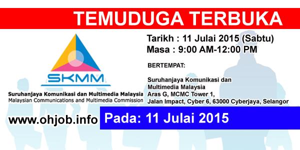 Jawatan Kerja Kosong Suruhanjaya Komunikasi dan Multimedia Malaysia (SKMM) logo www.ohjob.info julai 2015