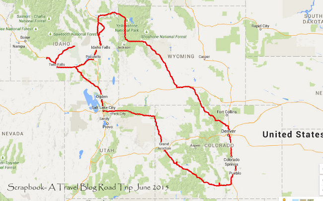 Road trip USA June 2015 Utah Colorado Wyoming Idaho