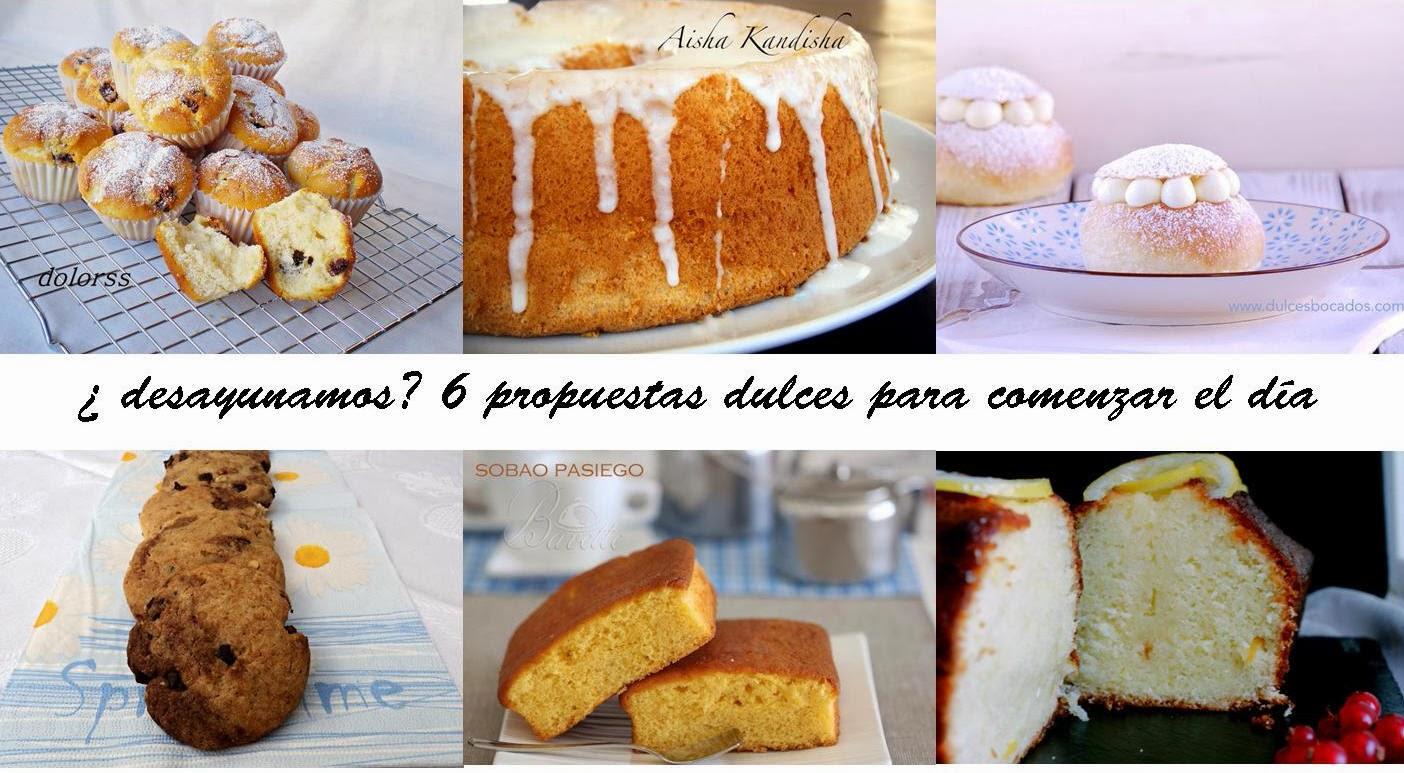 Recetas para desayunar magdalenas cakes sobao galletas chiffon cake