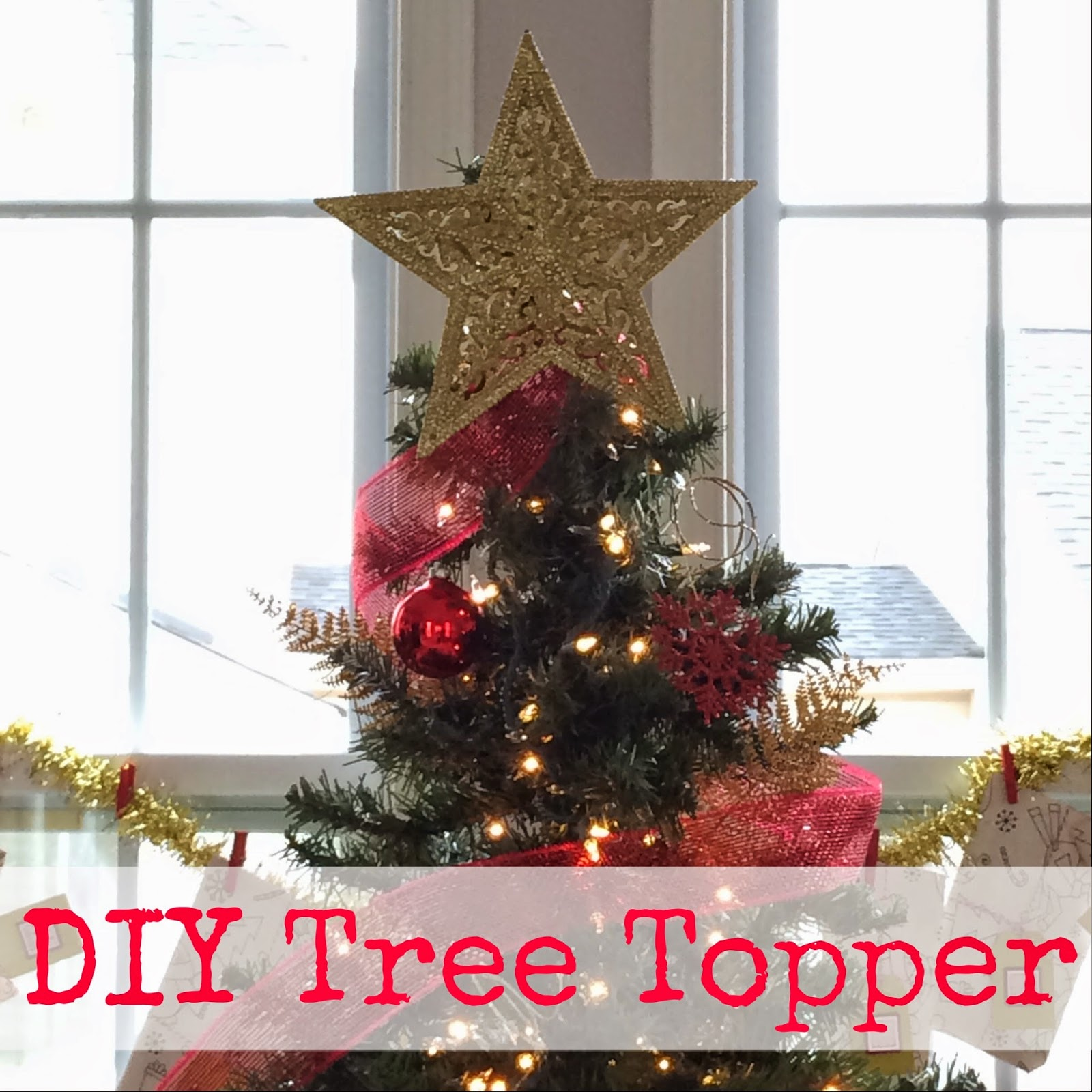 DIY $2 Christmas Tree Topper - LeroyLime