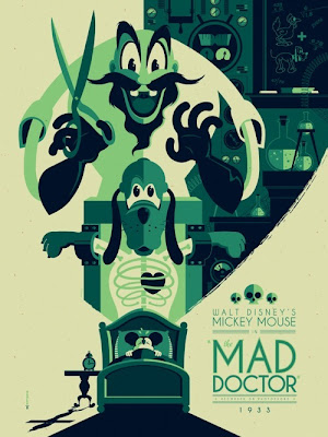 "Mondo x Sideshow Collectibles Disney Classic Cartoon Series - ""The Mad Doctor"" Screen Print by Tom Whalen"
