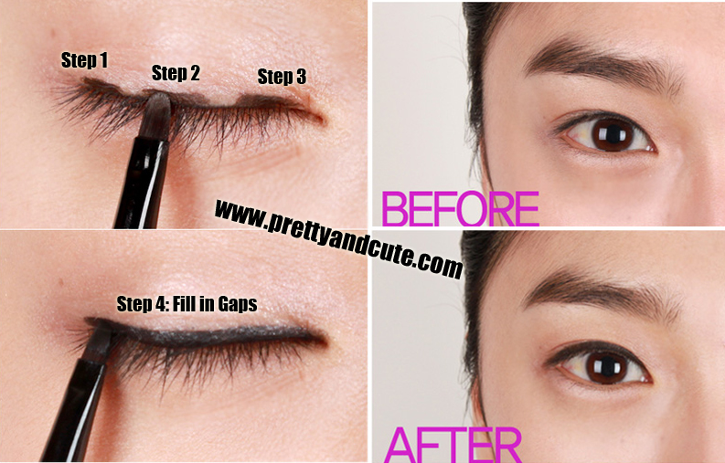 how to use white eyeliner asian